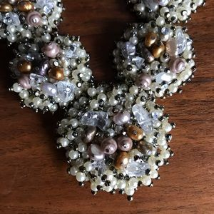 Coldwater Creek Statement Beaded Necklace